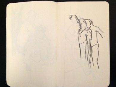 London People sketchbook page 8 JONATHAN ELLIS March 2015