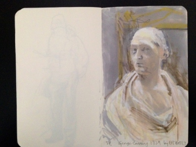 BUST by EH BAILY, Tate Britain London People sketchbook page 12 JONATHAN ELLIS March 2015