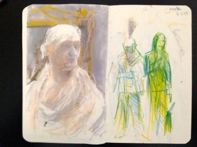Euston London People sketchbook page 13 JONATHAN ELLIS March 2015