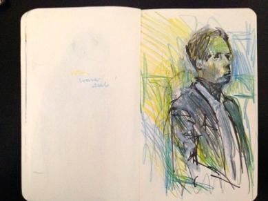 Euston 4 London People sketchbook page 16 JONATHAN ELLIS March 2015