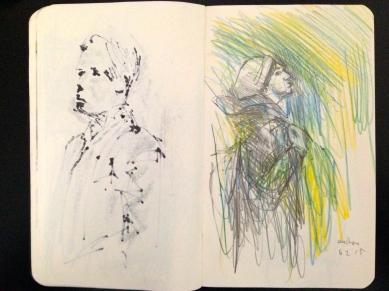 Euston 5 London People sketchbook page 17 JONATHAN ELLIS March 2015