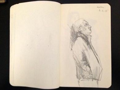 Euston 7 London People sketchbook page 18 JONATHAN ELLIS March 2015