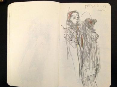 Euston 8 London People sketchbook page 19 JONATHAN ELLIS March 2015