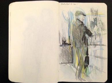 Hackney Road London People sketchbook page 20 JONATHAN ELLIS March 2015