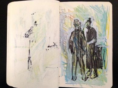 Hackney Road 2 London People sketchbook page 21 JONATHAN ELLIS March 2015
