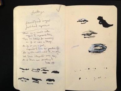 Dumas mouths 2, Tate Modern London People sketchbook page 25 JONATHAN ELLIS March 2015