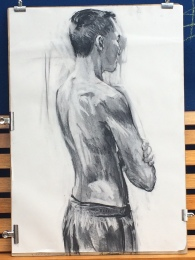Duane in charcoal, 2016