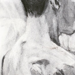 Duane in charcoal (detail) 2016