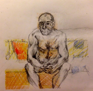 Barrie in Pencil 2 Hornbeam Cafe 15 March 2015