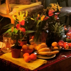 Oranges & other colours: still life