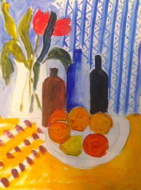 Oranges & other colours: painting with brights