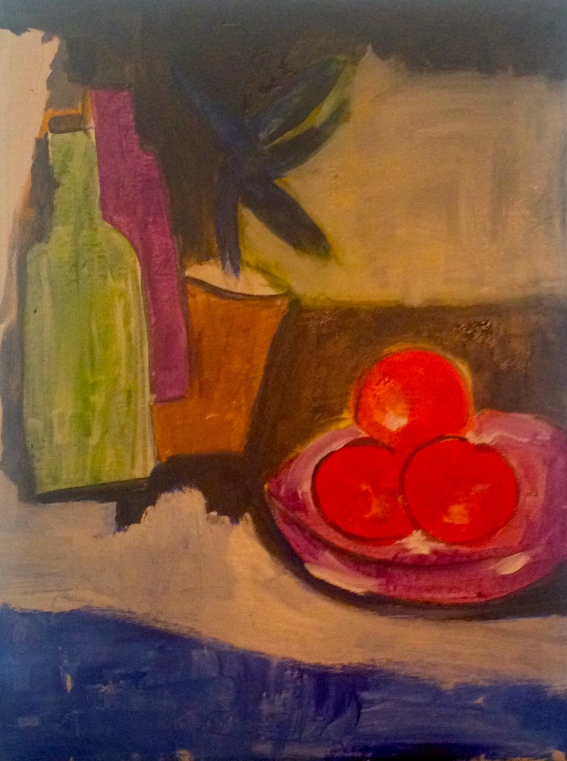 Oranges & other colours: painting edges