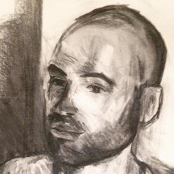 Roy (head) charcoal JONATHAN ELLIS 21 May 2015