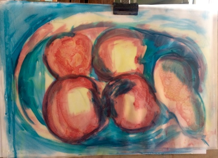 London Sketch Club 14 September 2016: Cezanne Apples by Jacquie Rufus-Isaacs