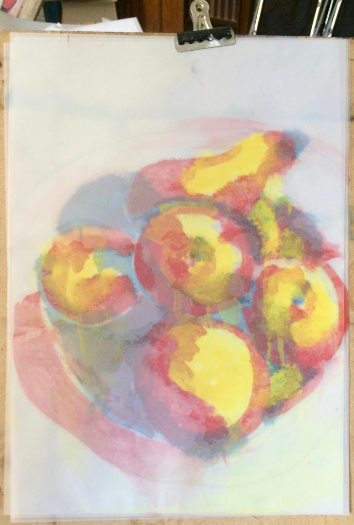 London Sketch Club 14 September 2016: Cezanne Apples by Jeanie Hirsch