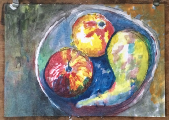London Sketch Club 14 September 2016: Cezanne Apples by Hedge Horne
